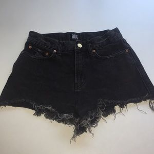 BDG high wasted black jean shorts